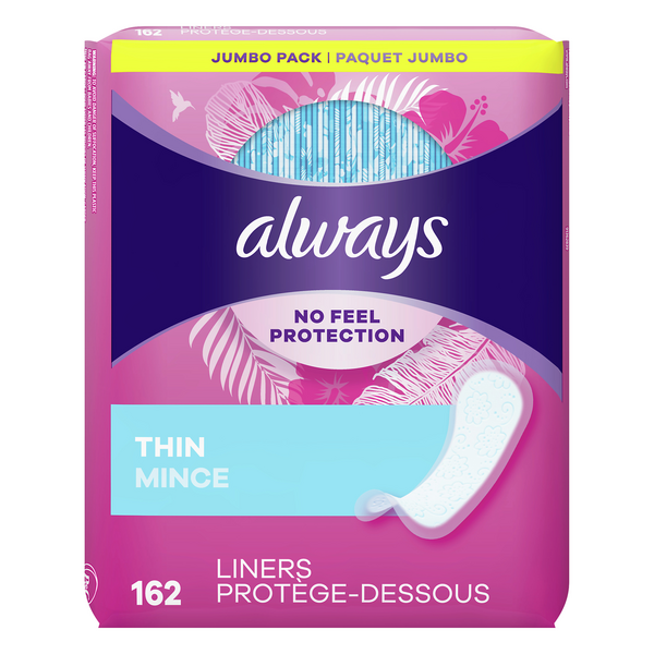 Always Daily Liners Thin Regular Length