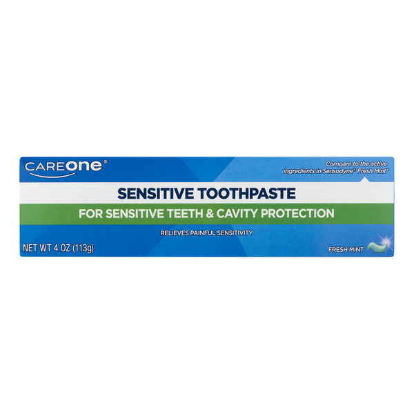 CareOne Sensitive Fluoride Toothpaste Maximum Strength Fresh Mint