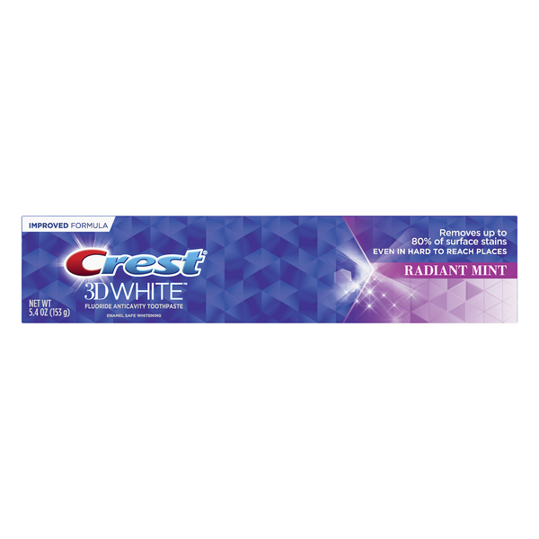 Crest 3D White Fluoride Anticavity Toothpaste Radiant Mint