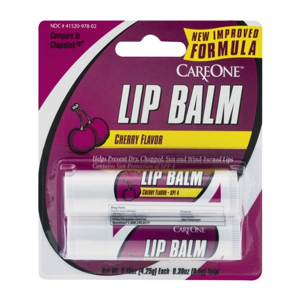 CareOne Lip Balm Cherry Flavor - 2 ct