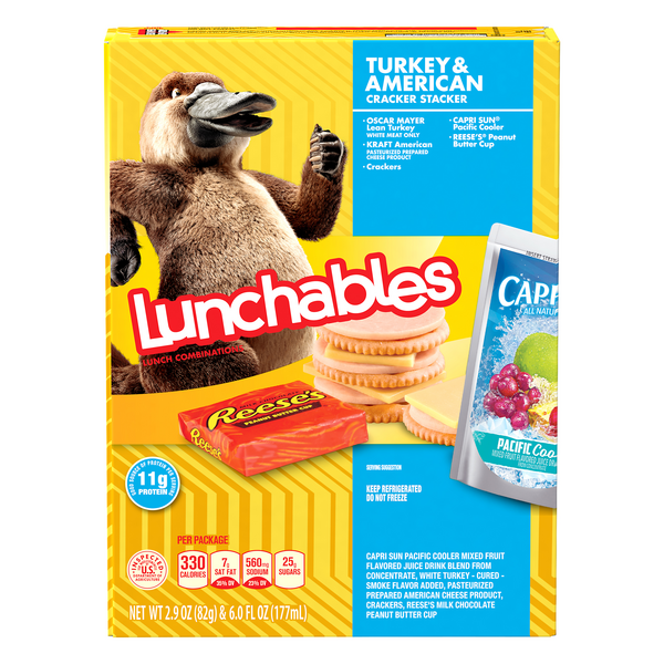 Lunchables Lunch Combinations Turkey & American Cracker Stacker