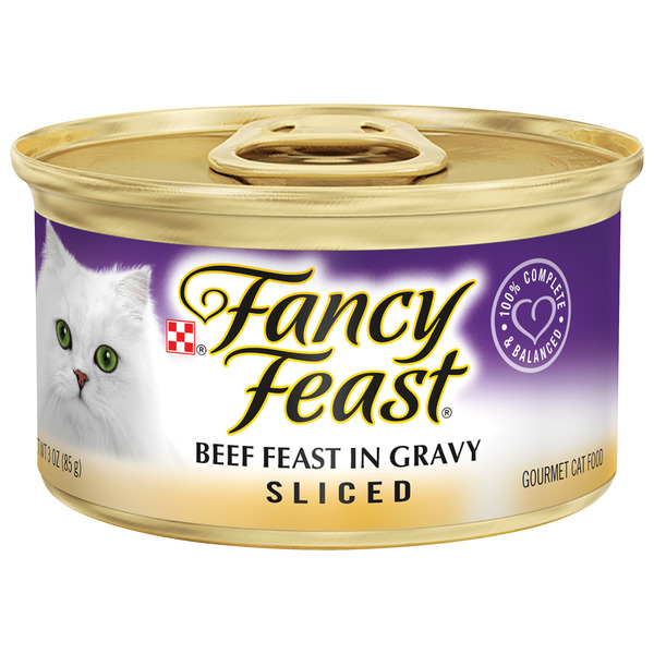 Fancy Feast Gourmet Wet Cat Food Sliced Beef Feast in Gravy