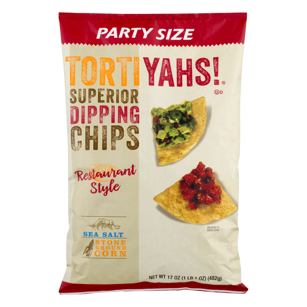 Tortiyahs! Superior Dipping Chips Sea Salt Party Size