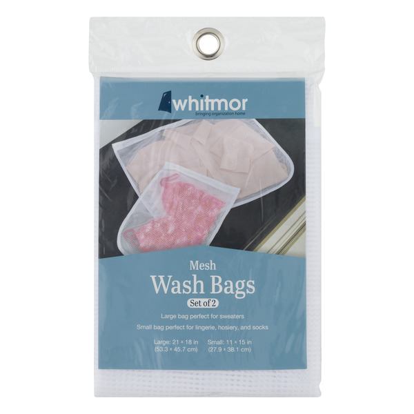 Whitmor Mesh Wash Bags