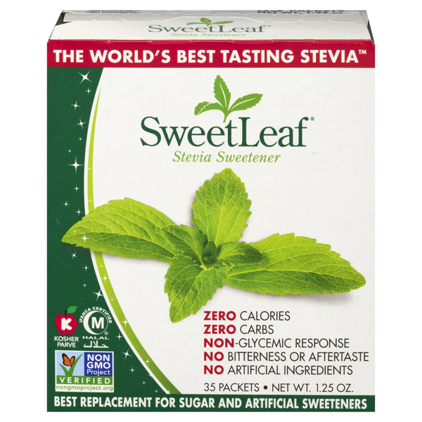 SweetLeaf 100% Stevia Sweetener All Natural - 35 ct