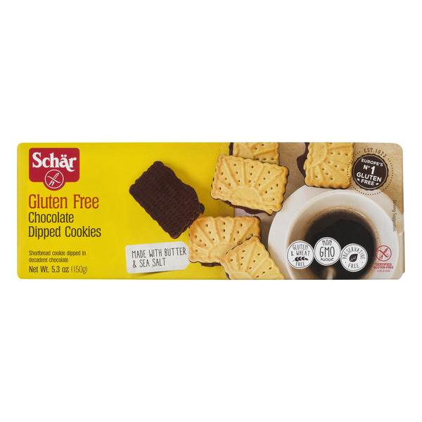 Schar Chocolate Dipped Cookies Gluten Free
