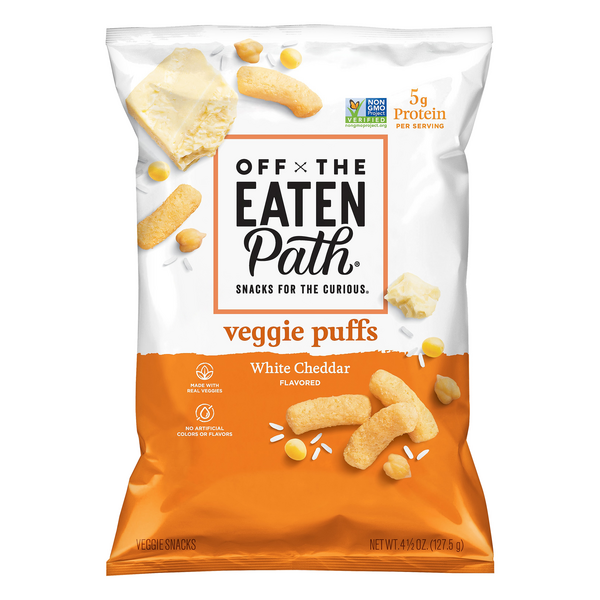 Off The Eaten Path Veggie Puffs White Cheddar Flavored