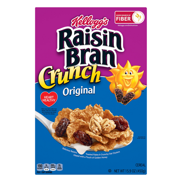 Kellogg's Raisin Bran Cereal Crunch Original