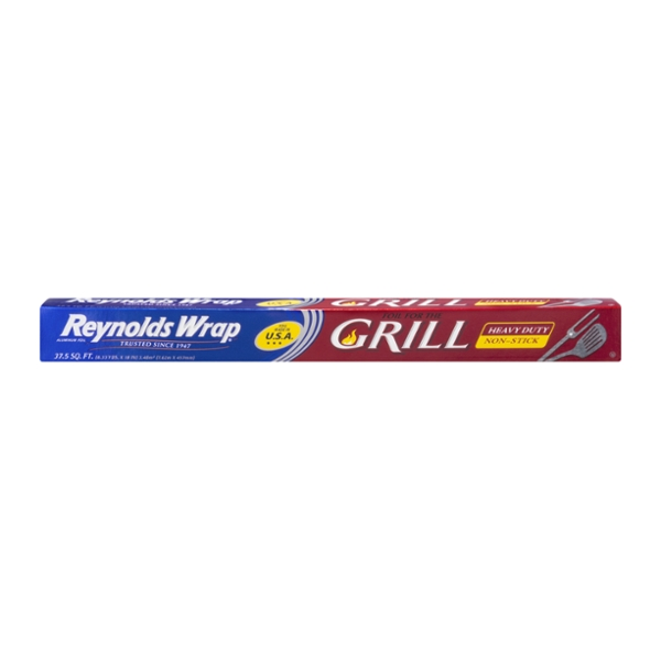 Reynolds Wrap Grill Aluminum Foil Heavy Duty Non-Stick 18 Inch Wide