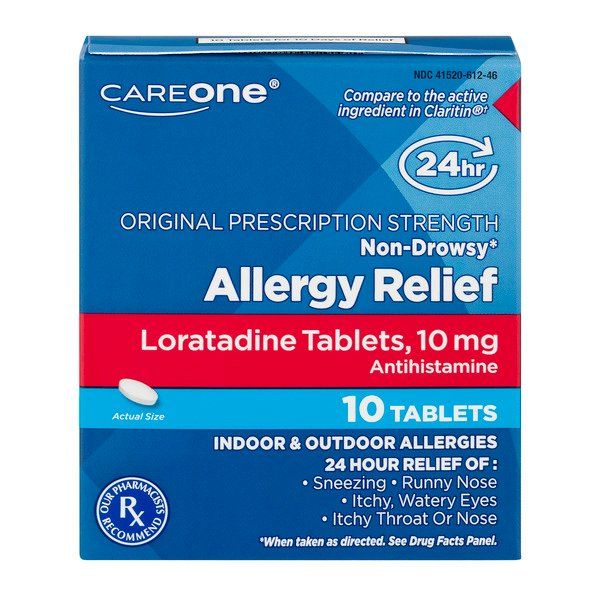 CareOne 24 Hour Allergy Relief Non Drowsy Loratadine 10 mg Tablets