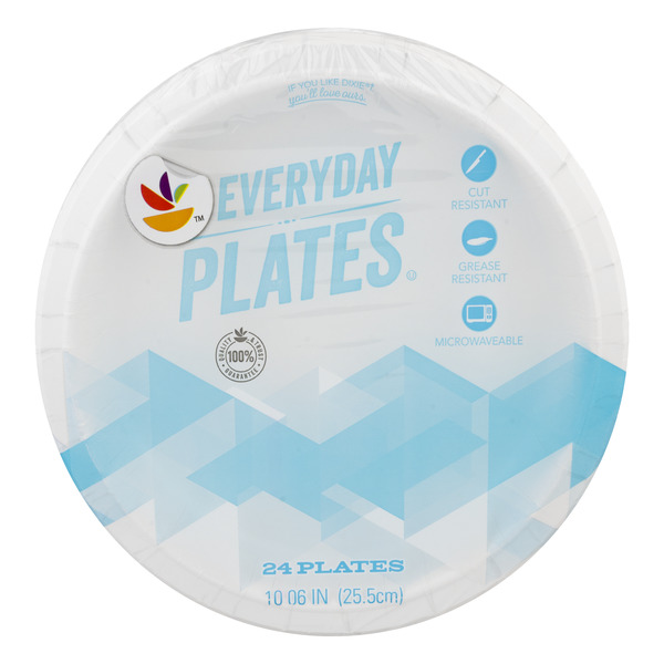 GIANT Everyday Paper Plates 10.06 Inch