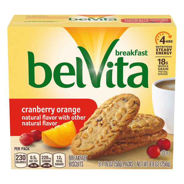 belVita Breakfast Biscuits Cranberry Orange - 5 ct