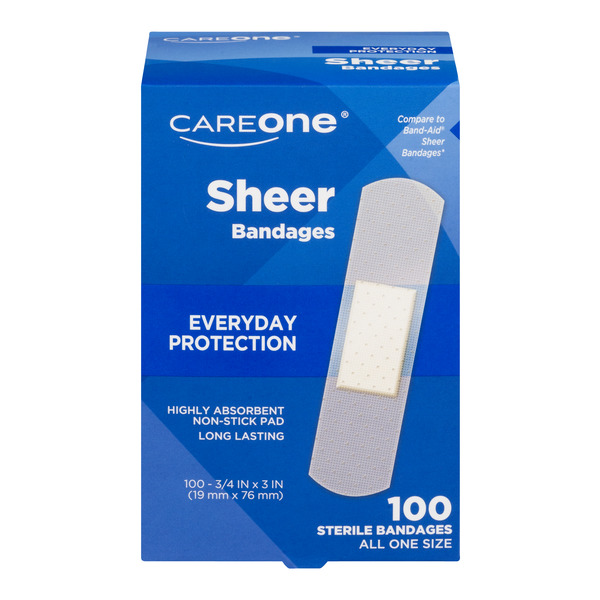 CareOne Bandages Sheer 3/4 X 3 Inch