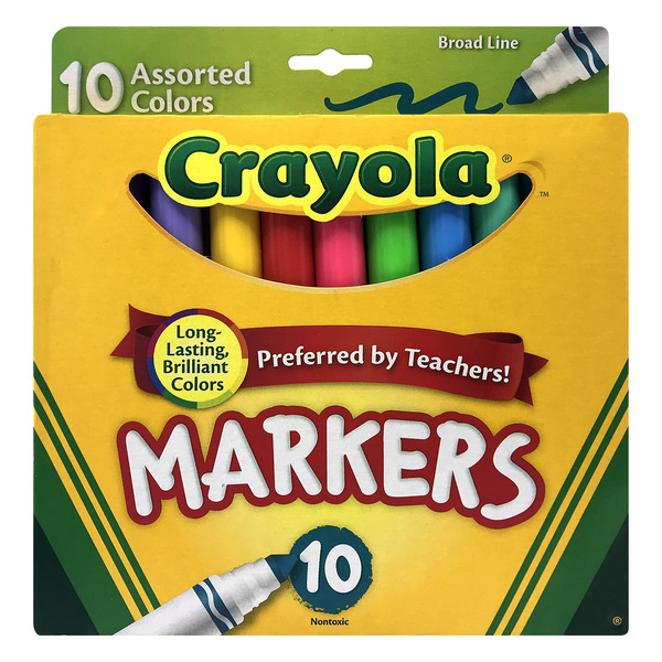 Crayola Markers Assorted Colors Broad Line