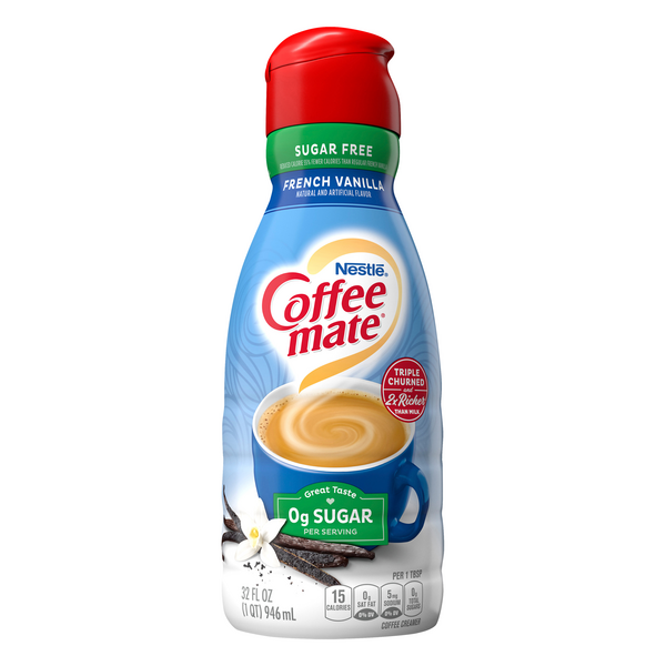 Nestle Coffee-mate Liquid Coffee Creamer French Vanilla Sugar Free Refrig