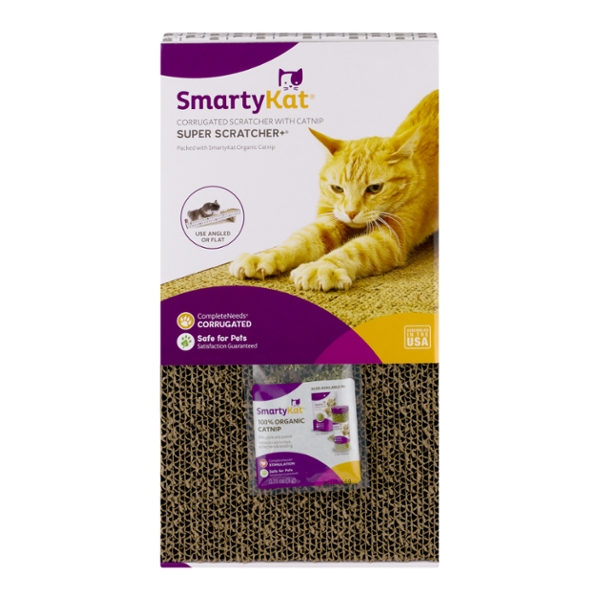 SmartyKat Super Scratcher+ Corrugated Scratcher with Catnip
