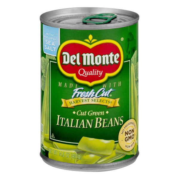 Del Monte Fresh Cut Green Beans Italian Sea Salt