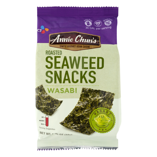 Annie Chun's Asian Cuisine Roasted Seaweed Snacks Wasabi