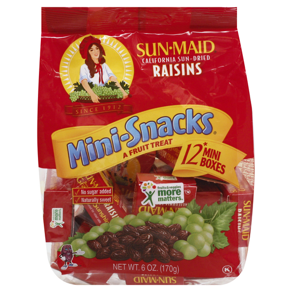 Sun-Maid California Raisins Mini Boxes Natural - 12 ct