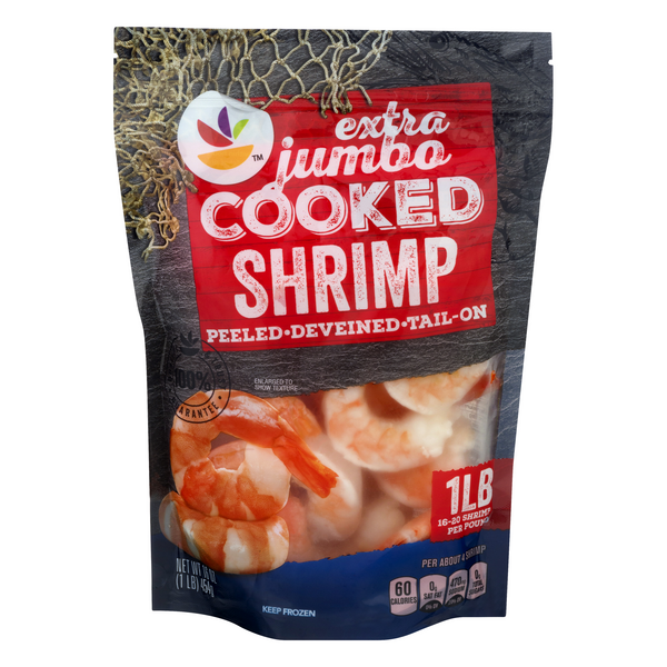 GIANT Cooked Shrimp Tail-On Extra Jumbo - 16-20 ct per lb Frozen