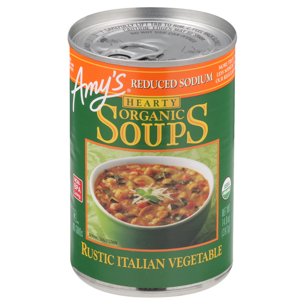 Amy's Organic Hearty Soup Rustic Italian Vegetable Reduced Sodium
