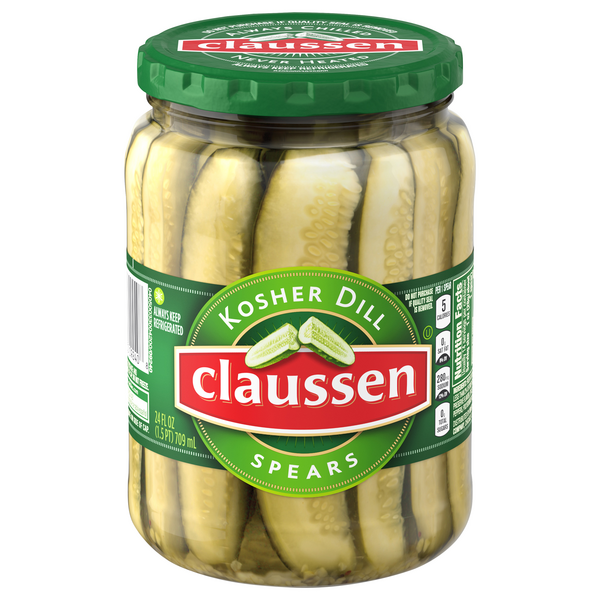 Claussen Pickles Kosher Dill Spears Refrigerated
