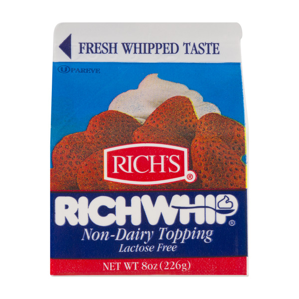 Rich's Rich Whip Non-Dairy Topping Lactose Free