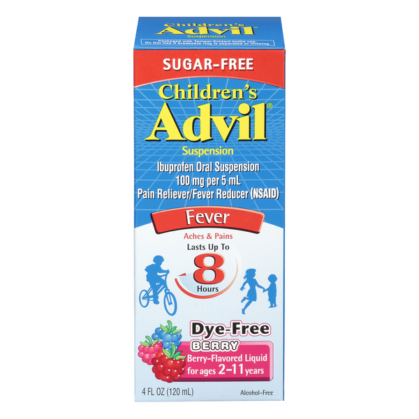 Advil Children's Fever Reducer Berry Sugar And Dye Free
