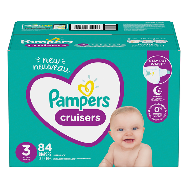 Pampers Cruisers Size 3 Diapers 16-28 lbs