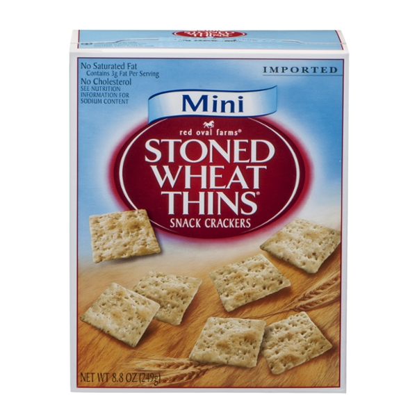 Red Oval Farms Stoned Wheat Thins Crackers Mini