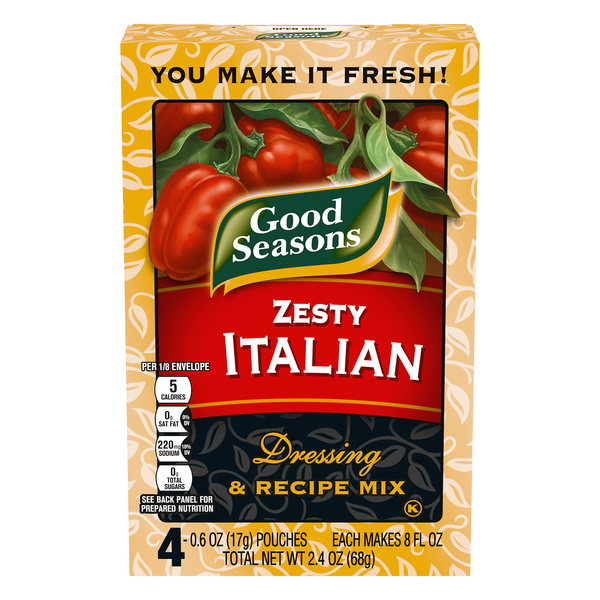 Good Seasons Dressing & Recipe Mix Zesty Italian - 4 ct