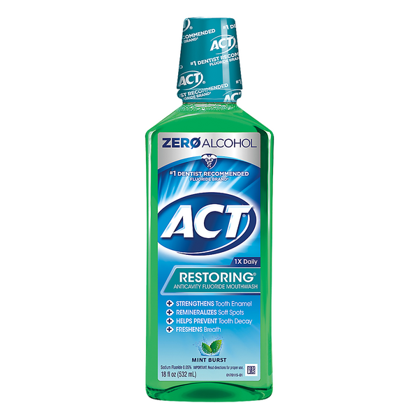 ACT Restoring Anticavity Fluoride Mouthwash Mint Burst