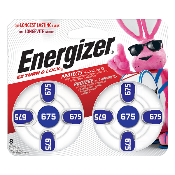 Energizer EZ Turn & Lock Hearing Aid Batteries 675