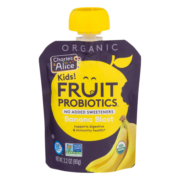 Charles & Alice Kids! Fruit Probiotics Banana Blast Organic