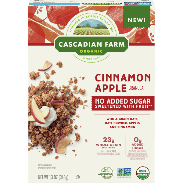 Cascadian Farm Granola Cinnamon Apple No Sugar Added Organic