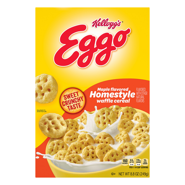 Kellogg's Eggo Breakfast Cereal Maple Flavored Homestyle Waffle