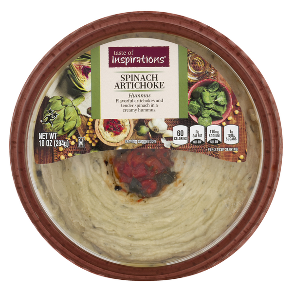 Taste of Inspirations Hummus Spinach Artichoke
