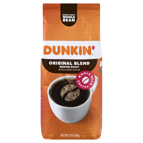 Dunkin' Donuts Original Blend Medium Roast Coffee (Whole Bean)