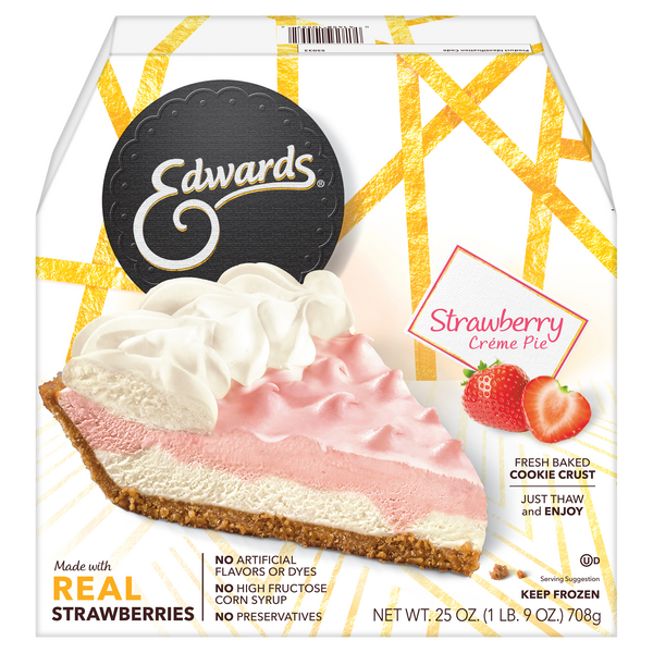 Edwards Pie Strawberry Creme Thaw & Serve Frozen