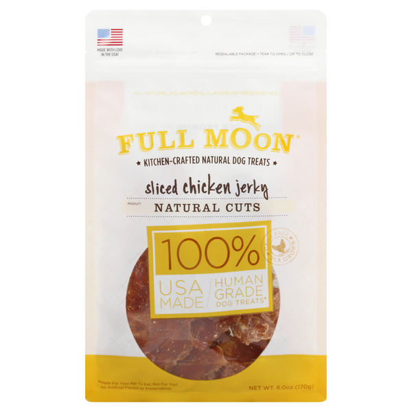 Full Moon Kitchen-Craft Natural Dog Treats Chicken Jerky Sliced