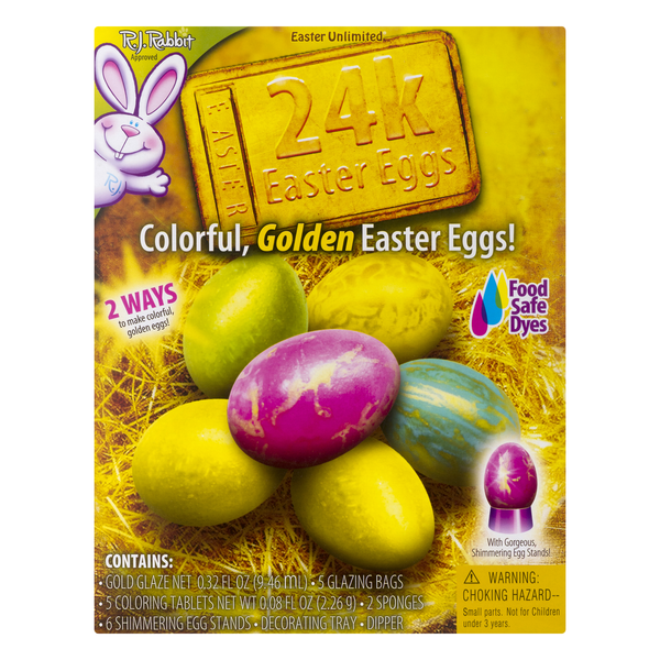Easter Unlimited Coloring Kit 24K Easter Eggs Colorful Golden