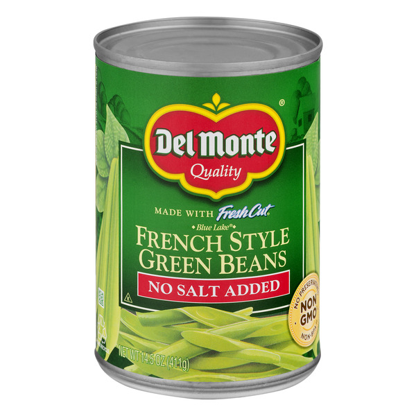 Del Monte Green Beans French Style Blue Lake No Salt Added