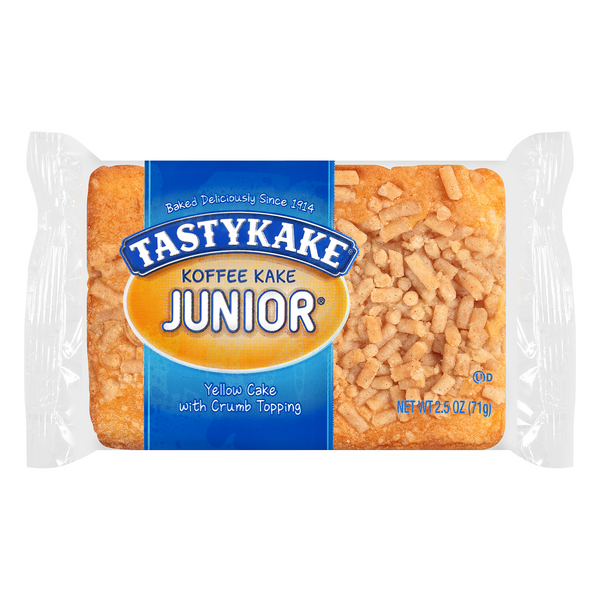 Tastykake Koffee Kake Junior Yellow Cake with Crumb Topping