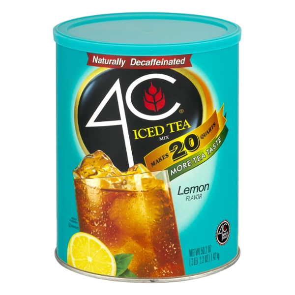 4C Iced Tea Mix with Lemon Decaffeinated