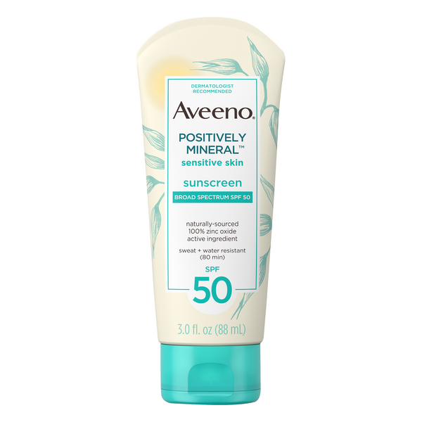 Aveeno Sunscreen Sensitive Skin Positively Mineral SPF 50