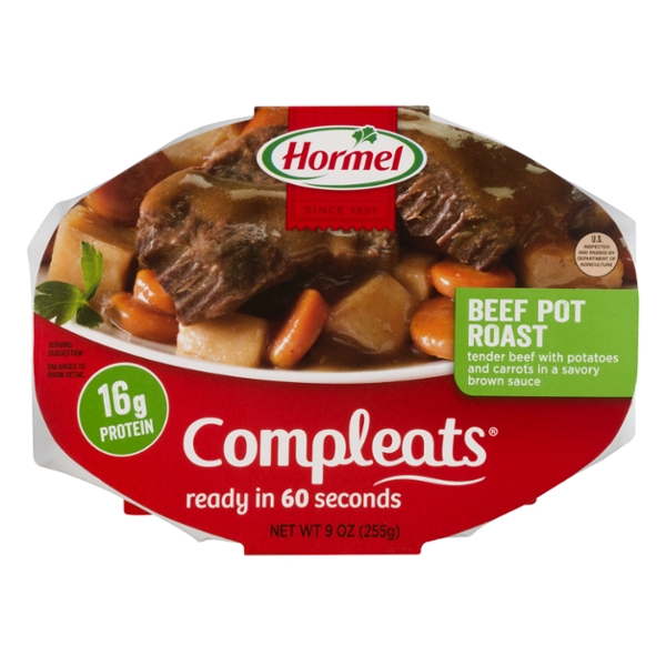 Hormel Compleats Beef Pot Roast w/Potatoes & Carrots in Gravy Microwavable