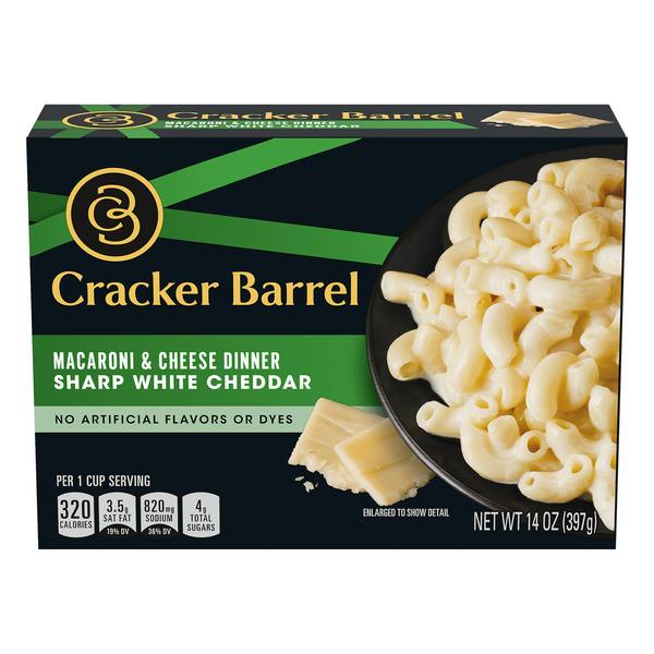 Cracker Barrel Macaroni & Cheese Dinner Sharp White Cheddar