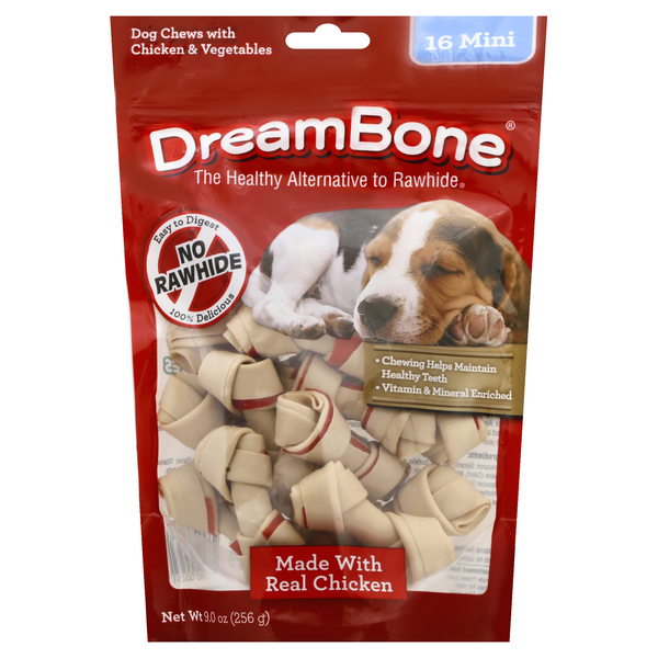 DreamBone Dog Chews Vegetable & Chicken Mini - 16 ct