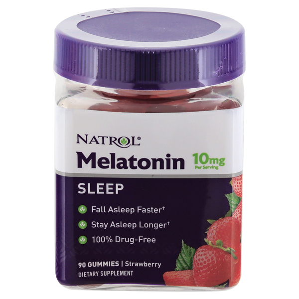 Natrol Gummies Melatonin 10 mg Strawberry