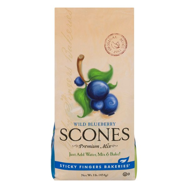 Sticky Fingers Scones Mix Wild Blueberry